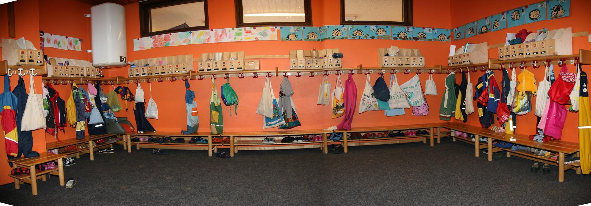 Gruppen und r umlichkeiten for Garderobe kindergarten